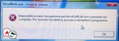errore versa works 6 windows 7 file dll mancante