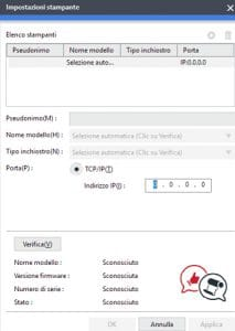 Roland VersaWorks 6 inserire indirizzo ip