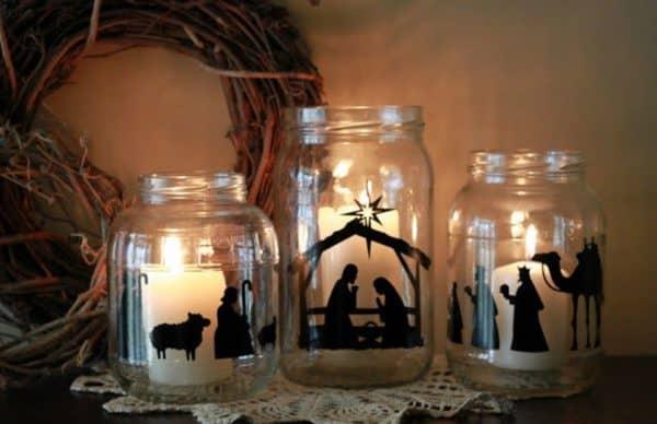 Boccia di vetro decorata con vinile da taglio