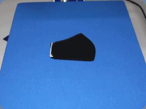 mascherina in cotone nero in termopressa