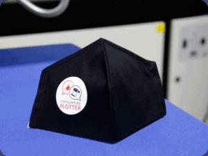 Mascherina in cotone personalizzata con transfer termosaldabile ecosolvente