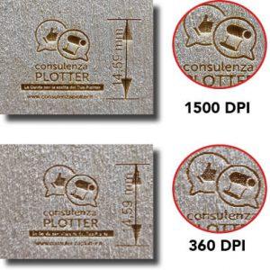 Incisione laser differenza di qualità