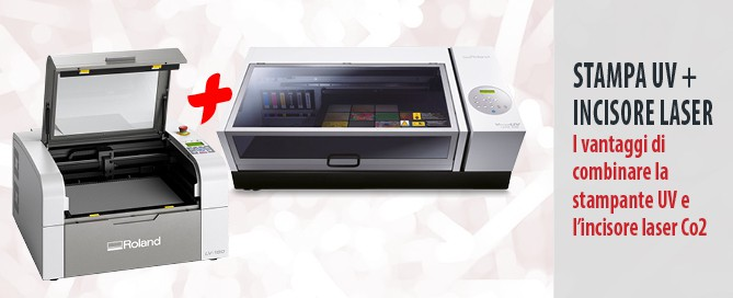 vantaggi di combinare la stampante UV e l'incisore laser Co2