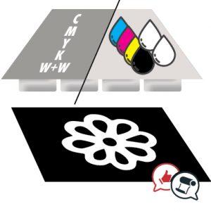 stampa del bianco con Due canali colore bianco
