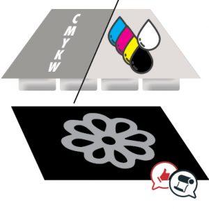 Plotter configurato con un solo canale colore bianco
